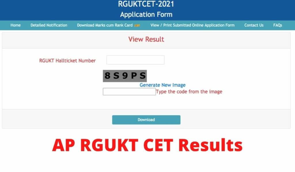 AP RGUKT Result 2021 Declared link Manabadi Download IIIT Entrance Rank Card